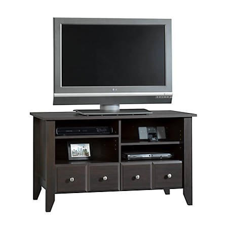 "Sauder® Shoal Creek TV Stand For TVs Up To 42"", Jamocha Wood"