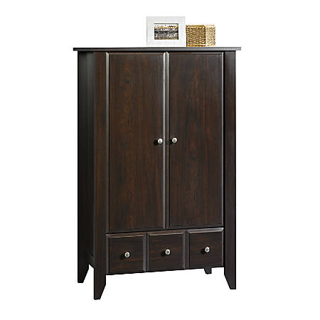 Sauder® Shoal Creek Armoire Storage Cabinet, Jamocha Wood