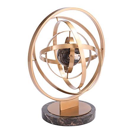 """Zuo Modern Atom Sculpture, 18 1/2""""H x 15""""W x 12 7/16""""D, Brown"""