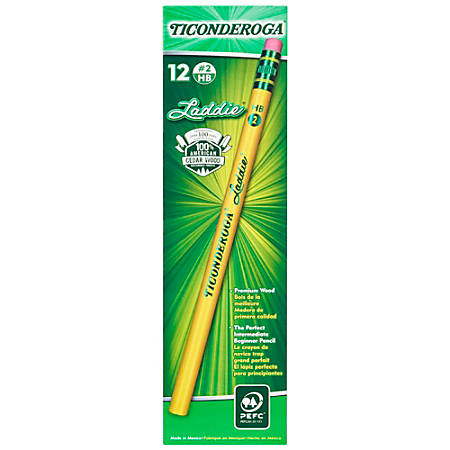 Dixon® Ticonderoga® Laddie Elementary Pencils, With Eraser, Pack Of 12 Pencils