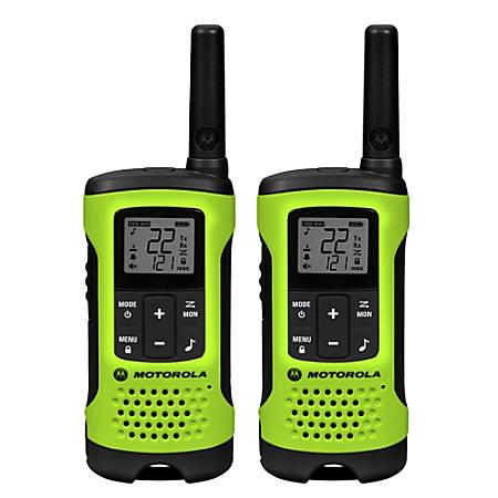 Motorola® TalkAbout® T605 Waterproof Two-Way Radios, Green/Black, Pack Of 2 Radios