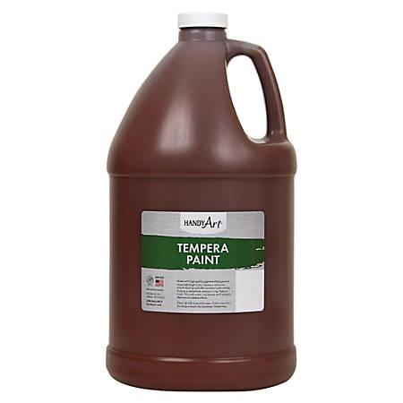 Handy Art Premium Tempera Paint Gallon - 1 gal - 1 Each - Brown