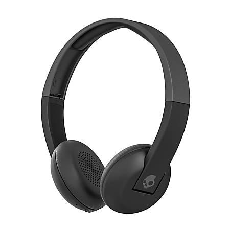 Skullcandy Uproar Wireless On Ear Headphones BlackGray - Office Depot f6fc59c178