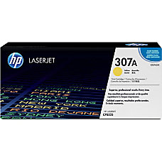 HP 307A Yellow Original Toner Cartridge