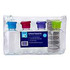 Sprayco 4 Piece Empty Travel Bottle