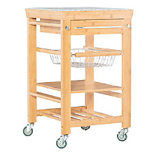 Linon Tyler BambooGranite Kitchen Cart 36