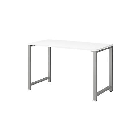 "Bush Business Furniture 400 Series Table Desks, 48""W x 24""D, White, Standard Delivery"
