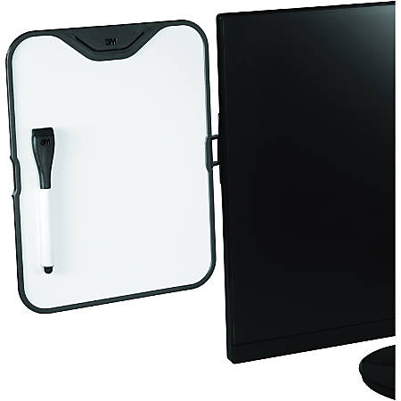 "3M Computer Monitor Whiteboard Holder, 11-7/16"" x 9"", White"