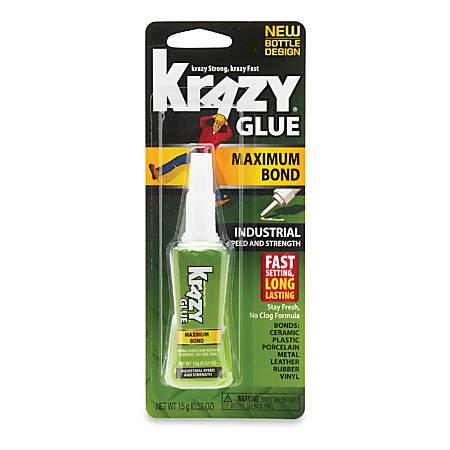 Krazy Glue Maximum Bond Industrial Speed And Strength Glue, 0.52 Oz