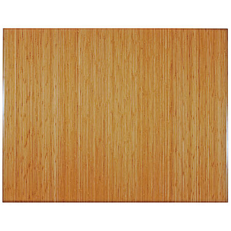"Anji Mountain Bamboo Tri-Fold Plush Chair Mat, 47"" x 60"", 1/2"" Thick, Natural"
