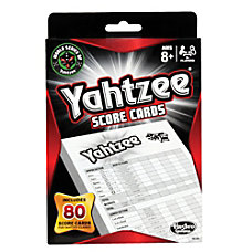 Hasbro Yahtzee Score Pad Refill