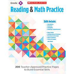 Scholastic Reading Math Practice Grade 6