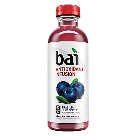 Bai Brasilia Blueberry, 18 Oz, Pack Of 12