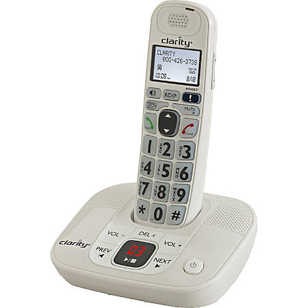 Clarity D712 DECT 6.0 1.90 GHz Cordless Phone - 1 x Phone Line - Speakerphone - Answering Machine - Hearing Aid Compatible