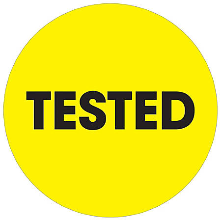 """Tape Logic® Preprinted Special Handling Labels, DL1278, Tested, Round, 2"""", Fluorescent Yellow, Roll Of 500"""