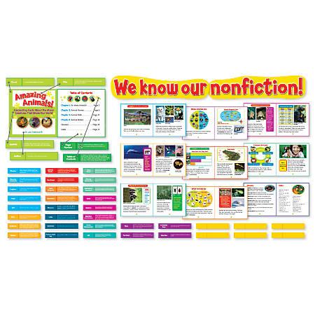 Scholastic Exploring Nonfiction Bulletin Board Set, Set Of 52 Pieces