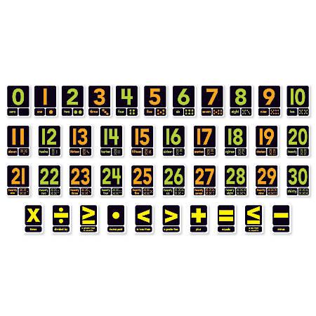 Scholastic Big Numbers 0-30 Bulletin Board Set, Assorted Colors