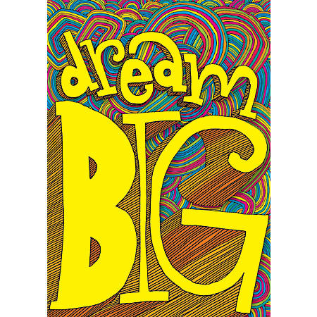 "Scholastic POP! Chart, Dream Big, 25 3/8"" x 19"", Multicolor"