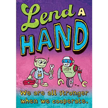 "Scholastic POP! Chart, Lend A Hand, 25 3/8"" x 19"", Multicolor"