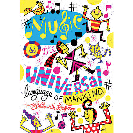 "Scholastic POP! Chart, Music Is The Universal, 25 3/8"" x 19"", Multicolor"