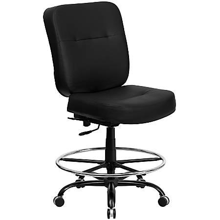 Flash Furniture HERCULES Big And Tall Drafting Chair, Black