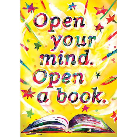 """Scholastic POP! Chart, Open Your Mind, 25 3/8"""" x 19"""", Multicolor"""