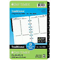 Day Timer Classic 1 Page Per