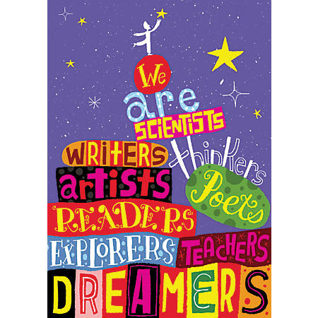 "Scholastic POP! Chart, We Are Thinkers, 25 3/8"" x 19"", Multicolor"