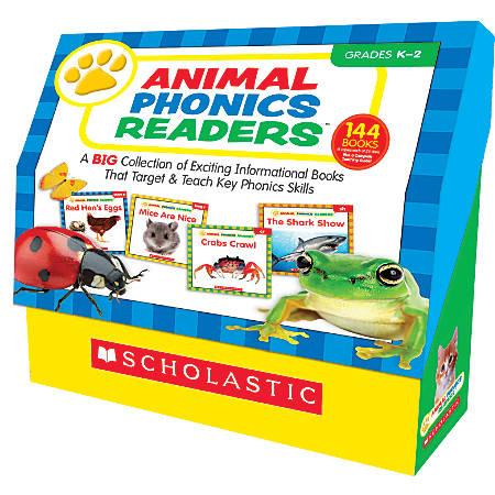 "Scholastic Animal Phonics Readers, 12"" x 12"", Grades Pre-K - 2, 6 Sets Of 24 Titles"