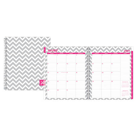 "Dabney Lee For Blue Sky™ Planner, Monthly, 8"" x 10"", 50% Recycled, Ollie, January to December 2017"