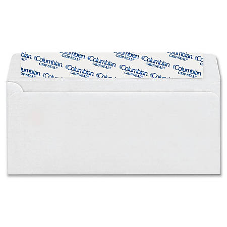"Columbian® Grip-Seal® Business Envelopes, #10, 4 1/8"" x 9 1/2"", White, Box Of 24"