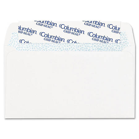 "Columbian® Grip-Seal® Business Envelopes, #6 3/4, 3 5/8"" x 6 1/2"", White, Box Of 55"