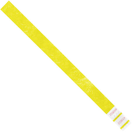 "Office Depot® Brand Tyvek® Wristbands, 3/4"" x 10"", Yellow, Case Of 500"