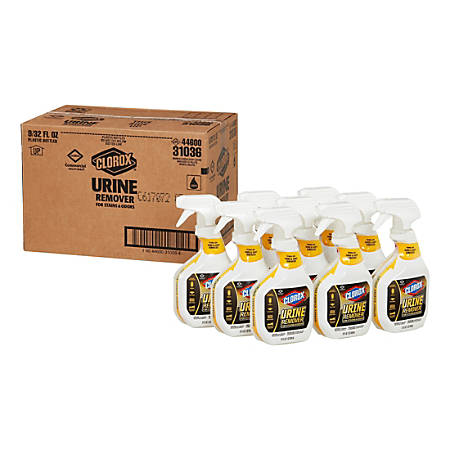 Clorox Commercial Solutions Urine Remover, Fruity Scent, 32 Oz, Case Of 9 Bottles