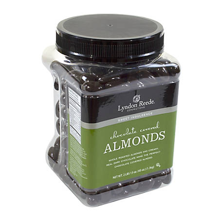 Lyndon Reede Dark Chocolate-Covered Almonds, 45-Oz Tub