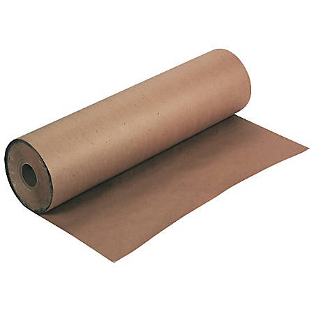 "Pacon® Kraft Wrapping Paper, 100% Recycled, 50 Lb., 36"" x 1,000', Brown"