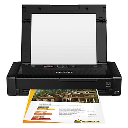 Epson® WorkForce® WF-100 Wireless Color Mobile Printer, C11CE05201
