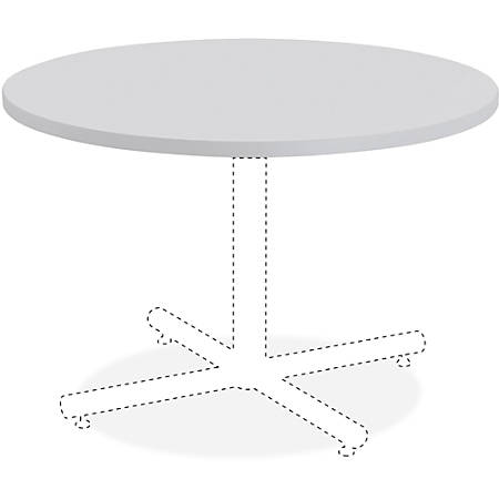 """Lorell® Hospitality Round Table Top, 42""""W, Light Gray"""