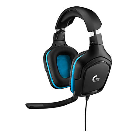 Logitech® G432 7.1 Surround Sound Over-The-Ear Wired Gaming Headset, 981-000769