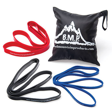 Black Mountain Products Strength-Resistance Exercise Loop Band Set, Pack Of 3