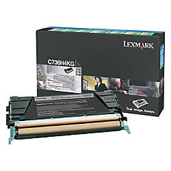 Lexmark C736H4KG High Yield Black Toner