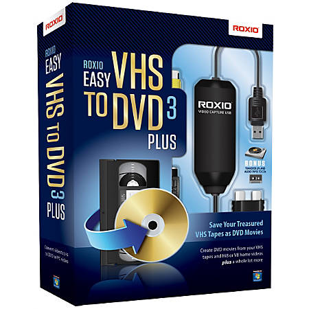 Roxio® Easy VHS To DVD 3 Plus, Traditional Disc