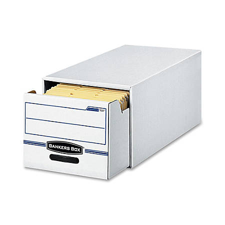 """Bankers Box® Stor/Drawer® File, Letter Size, 11 1/2"""" x 14"""" x 25 1/2"""", 60% Recycled, White/Blue, Pack Of 6"""