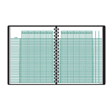 "AT-A-GLANCE® Undated Class Record Book, 8 1/4"" x 10 7/8"", Black"