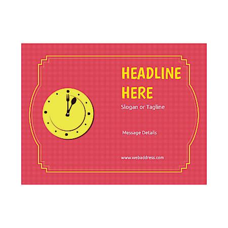 Custom Flyers, Horizontal, Dinner Clock