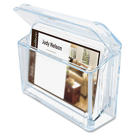 """deflecto Outdoor Business Card Holder - 2.8"""" x 4.3"""" x 1.5"""" - 1 Each - Clear"""