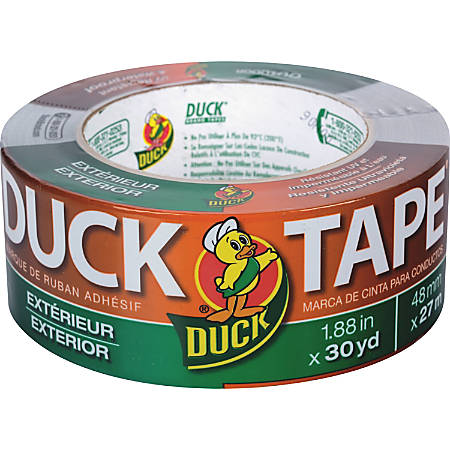 "Duck Brand Outdoor/Exterior Duct Tape, 1.88"" x 30 Yd., Gray"