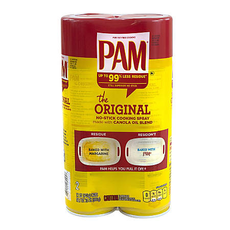 PAM No-Stick Cooking Spray, 12 Oz, Pack Of 2 Cans