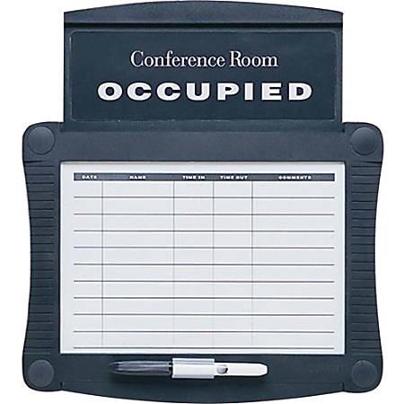 Quartet® Conference Room Scheduler, Black