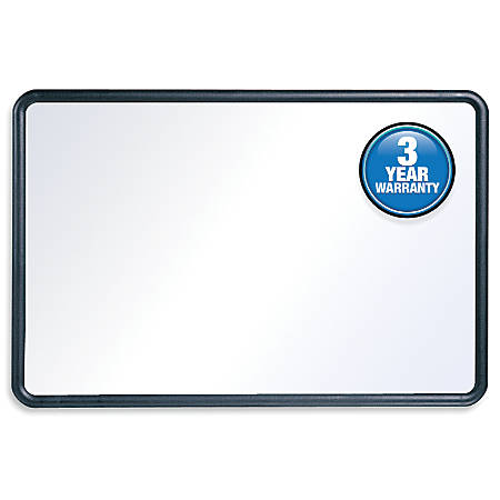 "Quartet® Dry-Erase Board With Plastic Frame, 36"" x 48"", White Board, Black Frame"